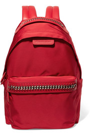 The Falabella GO faux leather-trimmed shell backpack