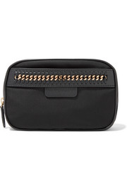 The Falabella chain and faux leather-trimmed shell cosmetics case