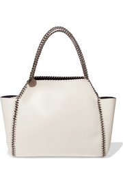 Falabella reversible faux brushed-leather tote