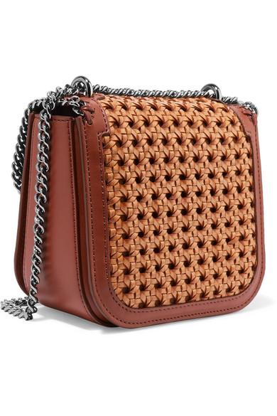 Stella Mccartney The Falabella Box Shoulder Bag Made Of Basket Weave And Leatherette