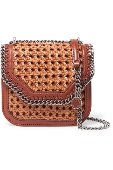 94d61148804a Stella McCartney. The Falabella Box wicker and faux leather shoulder bag
