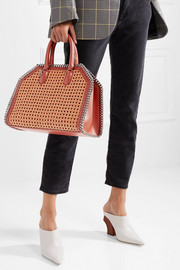 Stella McCartney The Falabella Box wicker and faux leather tote