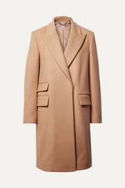 Melton wool-blend coat