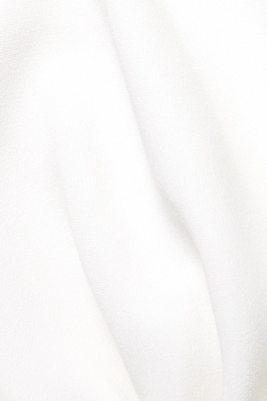 Stella McCartney Robe aus Stretch-Cady mit asymmetrischer Schulterpartie