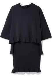 Stella McCartney Layered ruffled stretch-cady mini dress