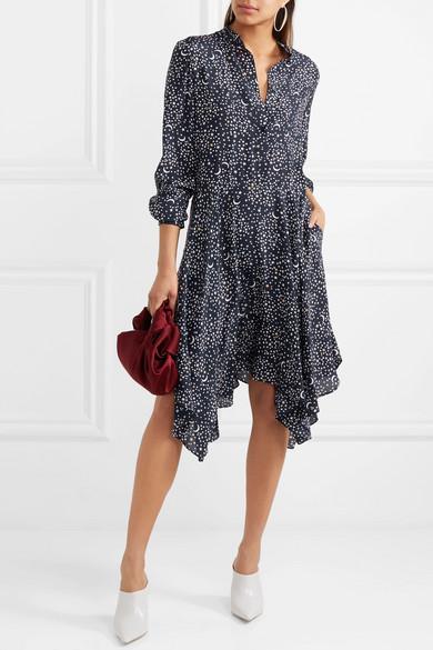 Stella McCartney Bedrucktes Kleid aus Crêpe de Chine aus Seide