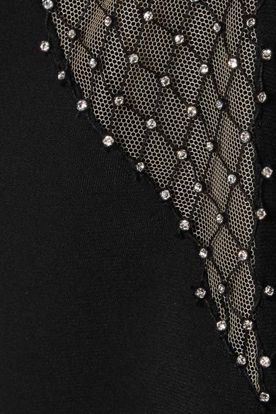 Stella McCartney Minikleid aus kristallverziertem Mesh und Cady Rabatt Beste Geschäft Zu Bekommen lOmWLx5m9l