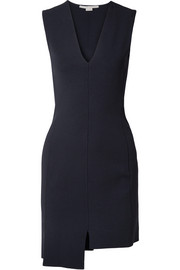 Stella McCartney Asymmetric stretch-knit mini dress