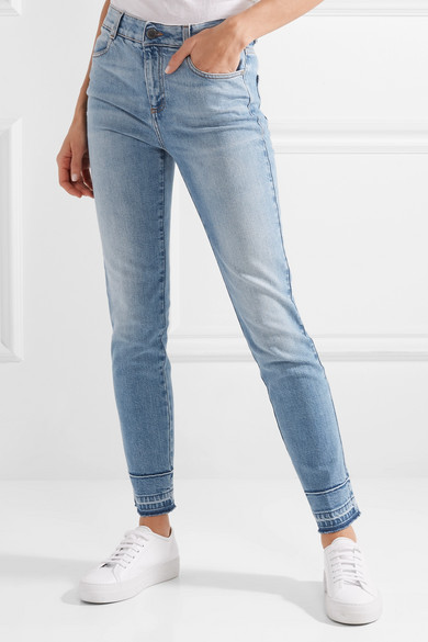 Stella McCartney Hoch sitzende Skinny Jeans