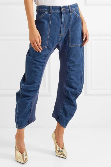 Genießen Sie Online Stella McCartney Verkürzte geraffte Jeans Freie Verschiffen-Angebote Qav5e0Pfe