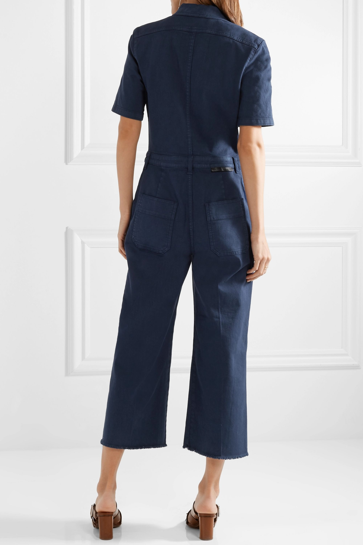Stella McCartney Cropped cotton-blend twill jumpsuit