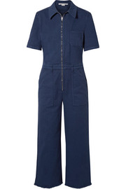 Stella McCartney Cropped cotton-blend twill jumpsuit