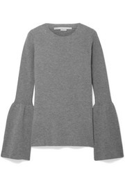 Stella McCartney Bell-sleeve ribbed wool sweater