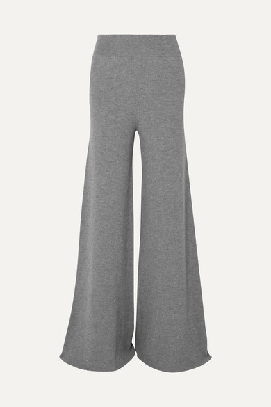 Stella Mccartney Pants With Wide Leg From Ribbed Wool