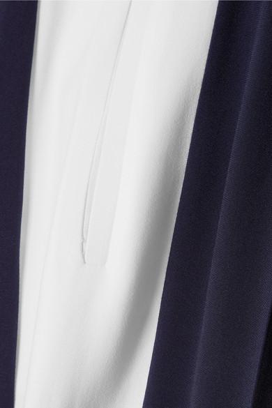 Stella McCartney Hose mit weitem Bein aus Crêpe mit Streifen