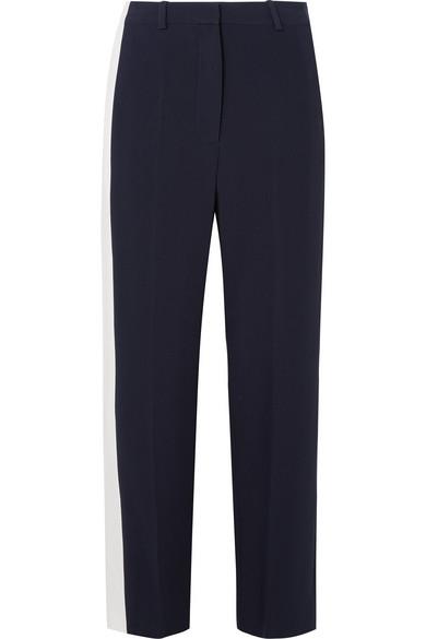 Striped Crepe Wide-leg Pants - Midnight blue Stella McCartney kRJDgijH