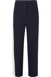Stella McCartney Striped crepe wide-leg pants