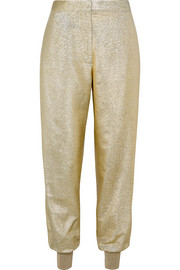 Stella McCartney Lamé tapered pants