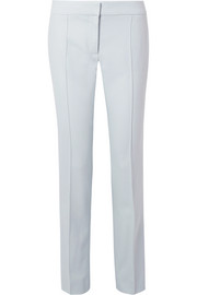 Stella McCartney Anna pleated wool-piqué straight-leg pants