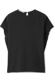Stella McCartney Oversized draped cady blouse