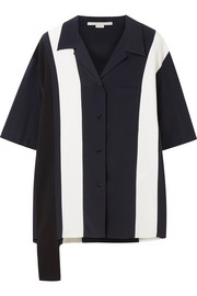 Stella McCartney Asymmetric striped silk shirt