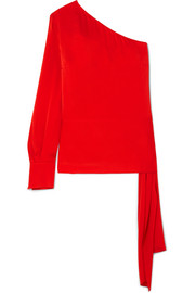 Stella McCartney One-shoulder crepe top