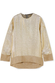 Oversized metallic jersey sweatshirt