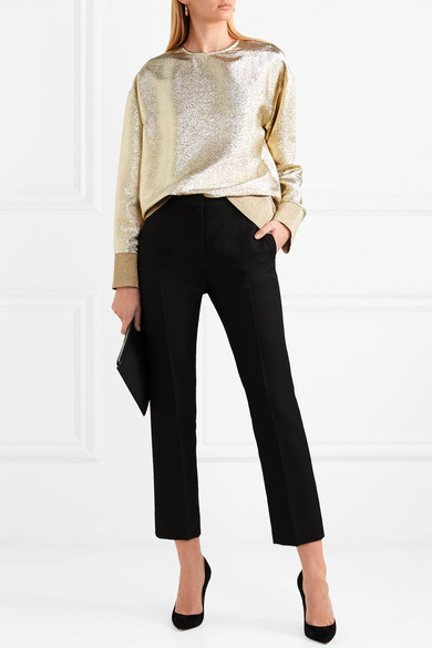Stella Mccartney Oversized-sweatshirt Aus Jersey In Metallic-optik