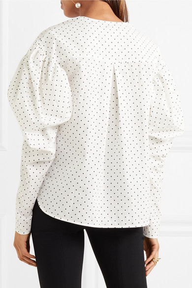 Georgia Alice Hemd aus Baumwollpopeline mit Polka-Dots