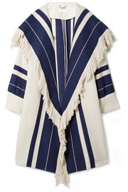 Chloé Fringed cotton-blend coat