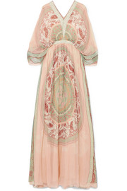 Chloé Printed silk-crepon maxi dress