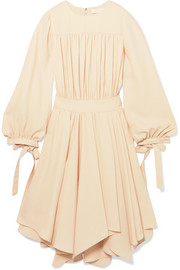 Chloé Asymmetric gathered cady dress