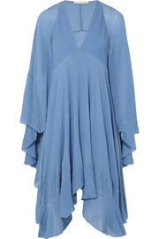 Chloé Cape-back silk-crepon mini dress