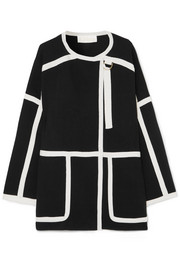 Chloé Iconic piped wool coat