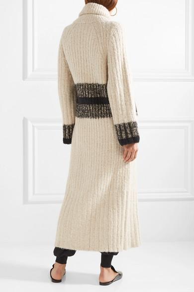Chloé Cardigan aus einer gerippten Wollmischung mit Streifen