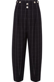 Chloé Checked wool wide-leg pants