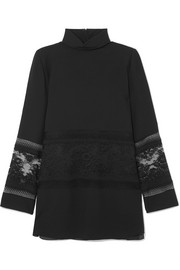 Chloé Lace-paneled cady tunic