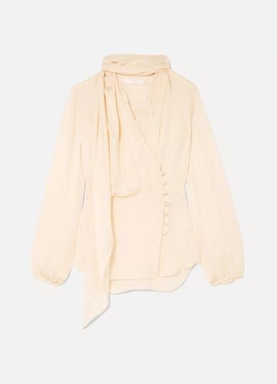 7c70f68b87c17e Chloé. Pussy-bow silk-charmeuse blouse