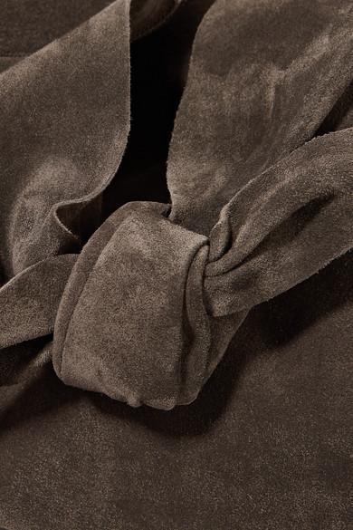 The Row Bindle Schultertasche aus Veloursleder
