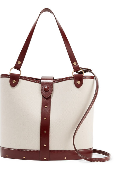 The Row Bag Bag Of Canvas With Leather Trim