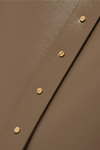 The Row Schultertasche aus Leder und Holz
