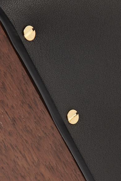 The Row Clutch aus Holz und Leder