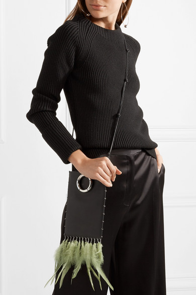 The Row Medicine Pouch Spring-decorated Shoulder Bag Made Of Textured Leather