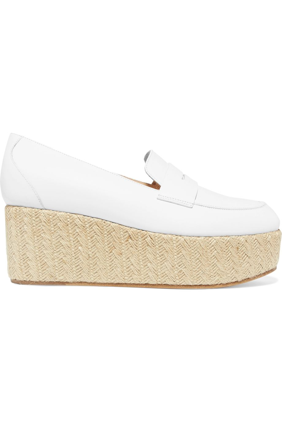 Gabriela Hearst Brucco leather and jute platform loafers