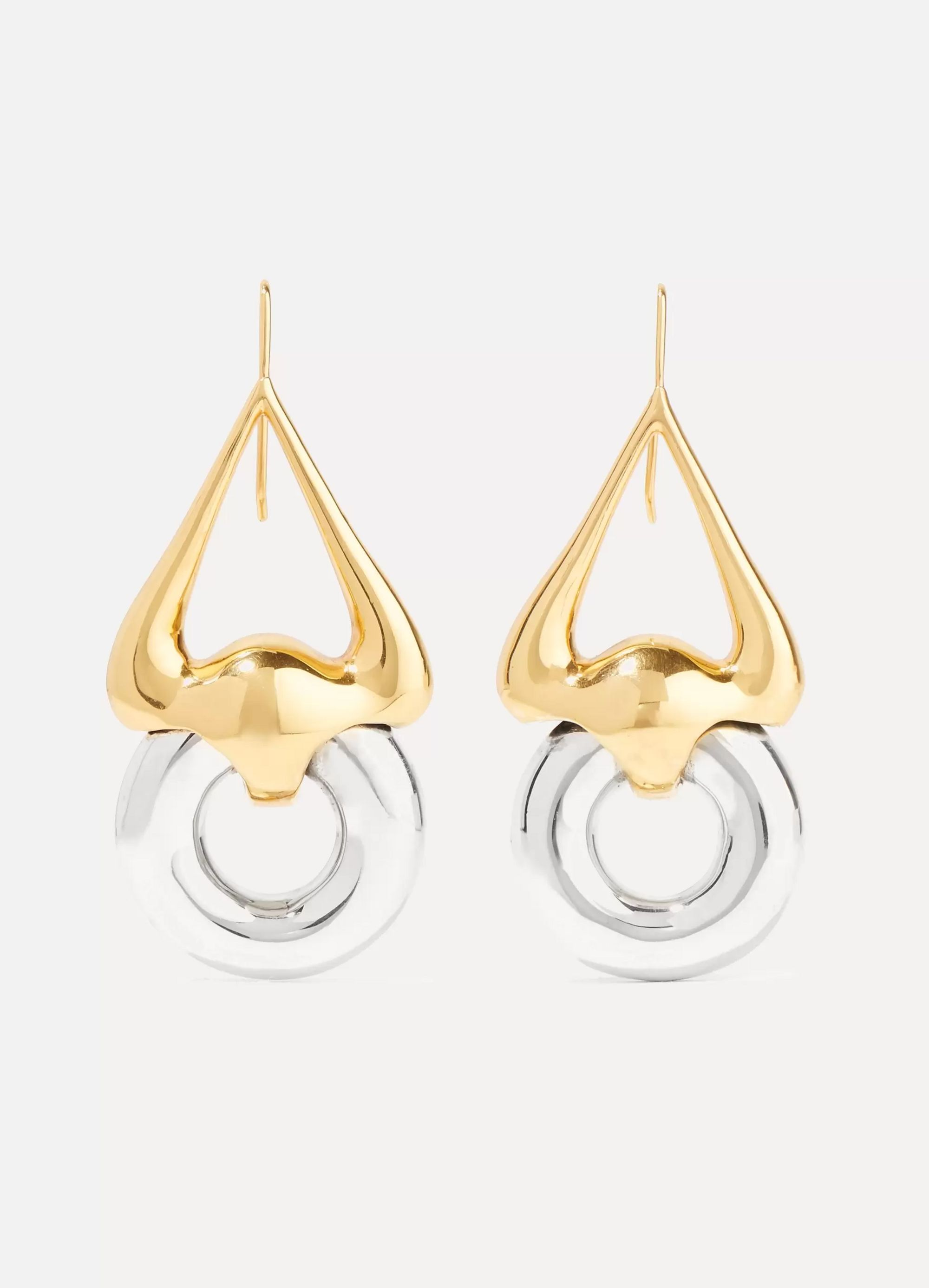 Ellery Cookie Lasso gold and silver-plated earrings