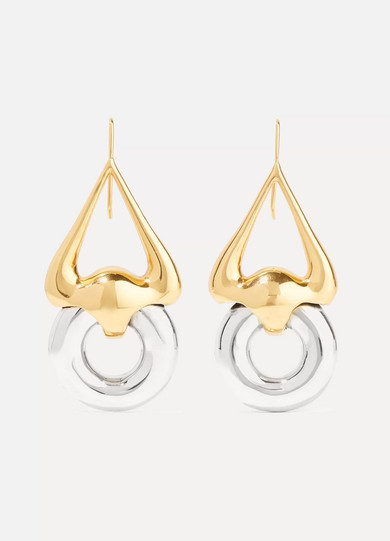 Ellery - Cookie Lasso Gold And Silver-plated Earrings