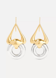 Cookie Lasso gold and silver-plated earrings