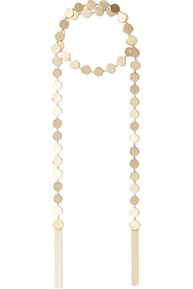 + Sally Lapointe Gold-plated And Leather Choker - One size Arme De L'Amour gzuzAWfo1W