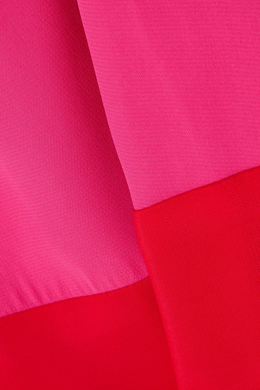 STAUD Joyce cropped two-tone crepe de chine jumpsuit