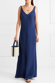 Zoe crepe de chine maxi dress